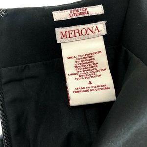 Merona Black A-Line Work Stretch Extensible Skirt